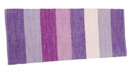 Sebra vloerkleed lang paars streep