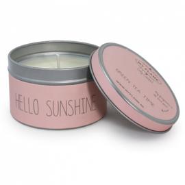 Mylfame soja geurkaars - Hello sunshine - Green tea