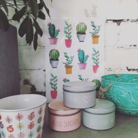 Imbarro Sisi plantenhanger metaal macramé turquoise