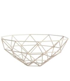 House doctor triangle bowl schaal dusty rose grijsroze
