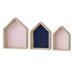 Bloomingville houten huisjes