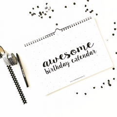 Awesome birthday calender Winkeltje van Anne