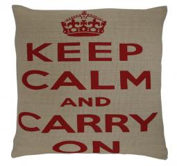 Krasilnikoff kussenhoes Keep calm