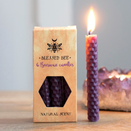 Blessed Bee - beeswax spell candles - Paars