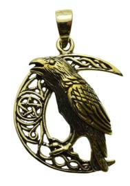 Raven Moon - Bronzen hanger - Lisa Parker