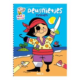 Plak & kleurboek - Piraten