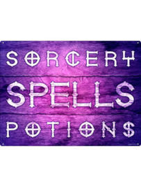 Tin sign - Sorcery, Spells & Potions