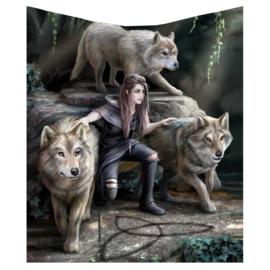 Fleece deken - Power of Three - Anne Stokes