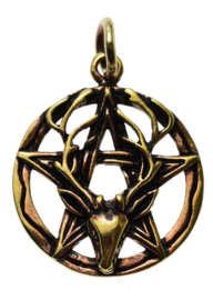 Stag Pentacle - hanger - Brons