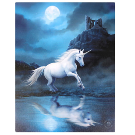 Canvas - Moonlight Unicorn- Anne Stokes