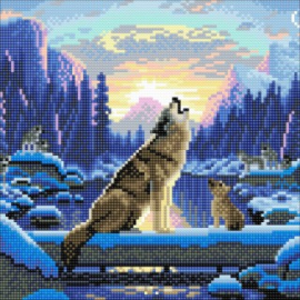 Diamond painting - Howling Wolves - Craft Buddy ®