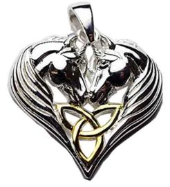 Unicorn Heart - Sterling Zilver - Lisa Parker