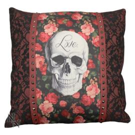 Sierkussen Rose Skull