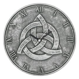 Wandklok - Triquetra - Silver-look