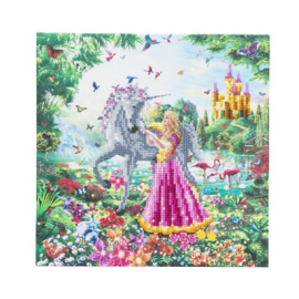 Crystal Art Kit - The Princess and the Unicorn - Craft Buddy ®
