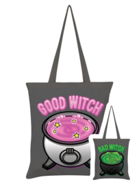 Tote bag - Good Witch Bad Witch Graphite Grey