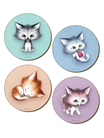 Set/4 onderzetters - Kitsch Kittens