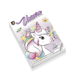 Kleur- en stickerboek - Eenhoorn