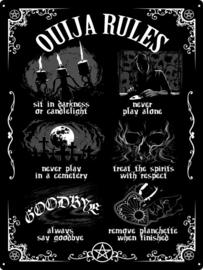 Tin sign - Ouija Board Rules