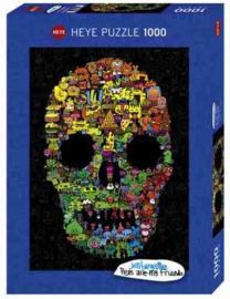 Puzzel - Doodle Skull - Heye