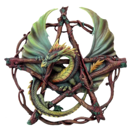 Forest Pentagram Dragon - wandornament - Anne Stokes