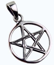 Pentagram - hanger - Sterling Zilver