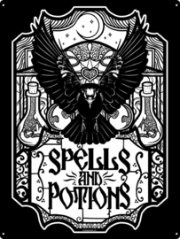 Tin sign - Spells & Potions