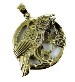 Raven Pentagram - Bronzen hanger - Lisa Parker