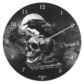 Wandklok - Poe's Raven - Alchemy