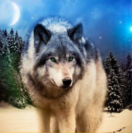 Diamond painting - Wolf