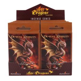 Anne Stokes -  incense cones - Desert Dragon