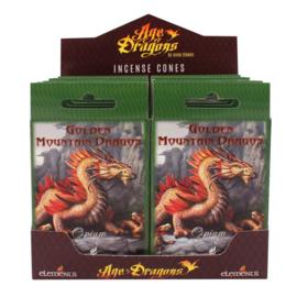 Anne Stokes -  incense cones - Golden Mountain Dragon