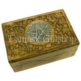 Opbergdoosje - Pentagram - Hout