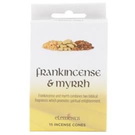 Elements - Frankincense & Myrrh -  incense cones