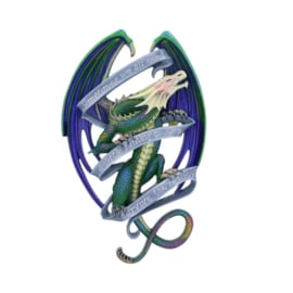 Sometimes Rainbow Dragon Scroll - wandornament - 33cm