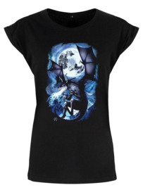 Ladies T-shirt - Wyvern Flames​