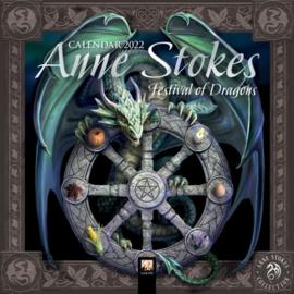 Anne Stokes mini kalender 2022 - Festival of Dragons