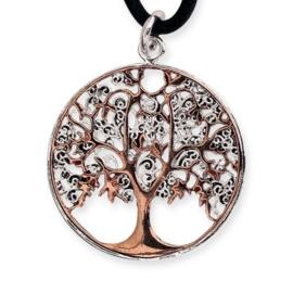 Hanger - Tree of Life - Brons / deels verzilverd