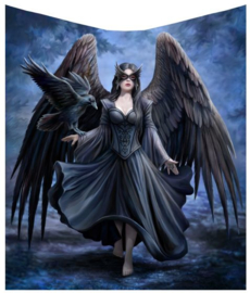 Fleece deken - Raven  - Anne Stokes