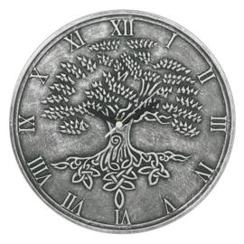 Wandklok - Tree of Life - Silver effect