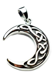 Moon Celtic hanger - Sterling Zilver