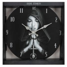 Wandklok - Gothic Prayer - Anne Stokes