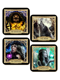 Set/4 onderzetters - Deadly Tarot