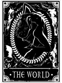 Mini poster - Deadly Tarot - The World