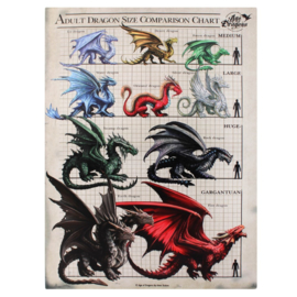 Canvas - Adult Dragon Comparison Chart - Anne Stokes