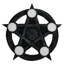Theelichthouder - Pentagram - 26cm