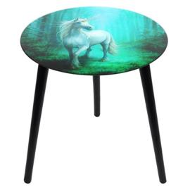 Anne Stokes - Forest Unicorn  - Glazen bijzettafel