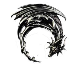 Dragon - hanger - Sterling Zilver