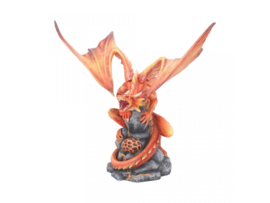 Anne Stokes beeld - Adult Fire Dragon - 24,5cm