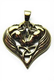 Unicorn Heart - Bronzen hanger - Lisa Parker